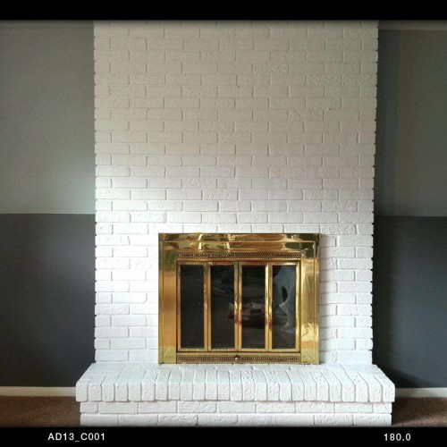 Just Add Paint, painted fireplace, painted brick, house painting ideas