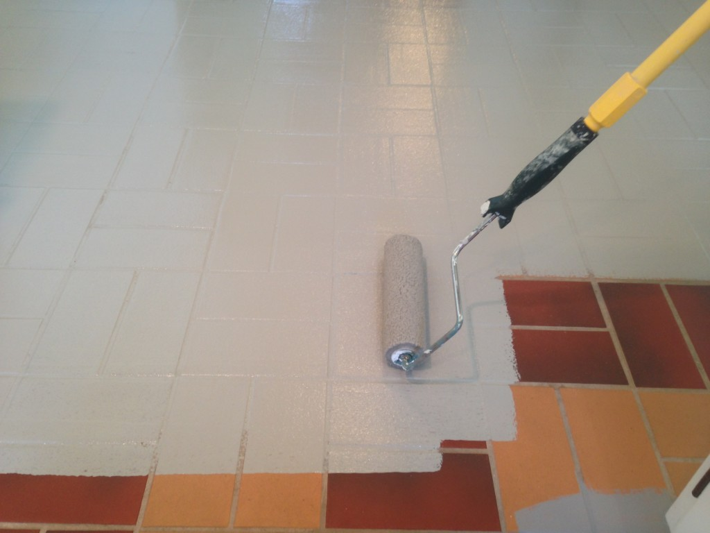 Kitchen Floor Tile Paint Pet Safe And Clean At A Cost That Is Lean Painting Floors Can
