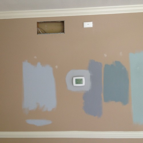 JUST ADD PAINT, house painting ideas. Testing colors in Lemoyne, PA 17043