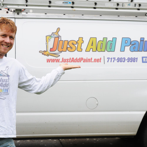 Curtis From Just Add Paint with the company van. Call Us Today!!!